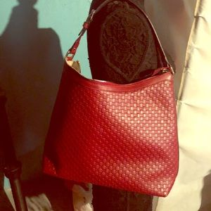 Red Gucci Microguccissima leather hobo